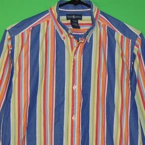 Polo Ralph Lauren Boys L (16-18) Striped Shirt